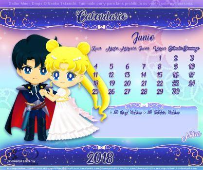 Sailor Moon Drops Calendario Junio by moonpristine