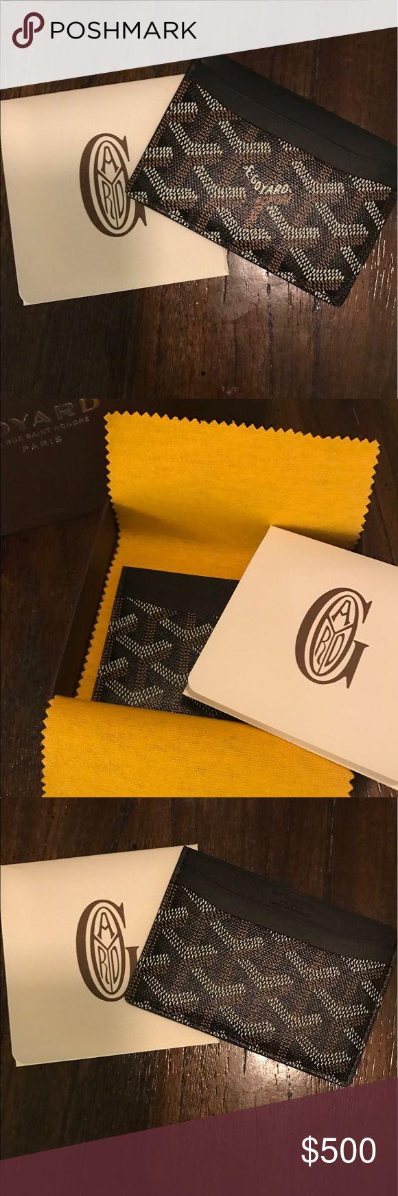 New Goyard Card Holder BRAND NEW never been used Goyard card holder in brown/black. Never used 100% authentic Goyard Accessories Key & Card Holders