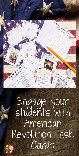 American Revolution Task Cards will help your students review before a test!