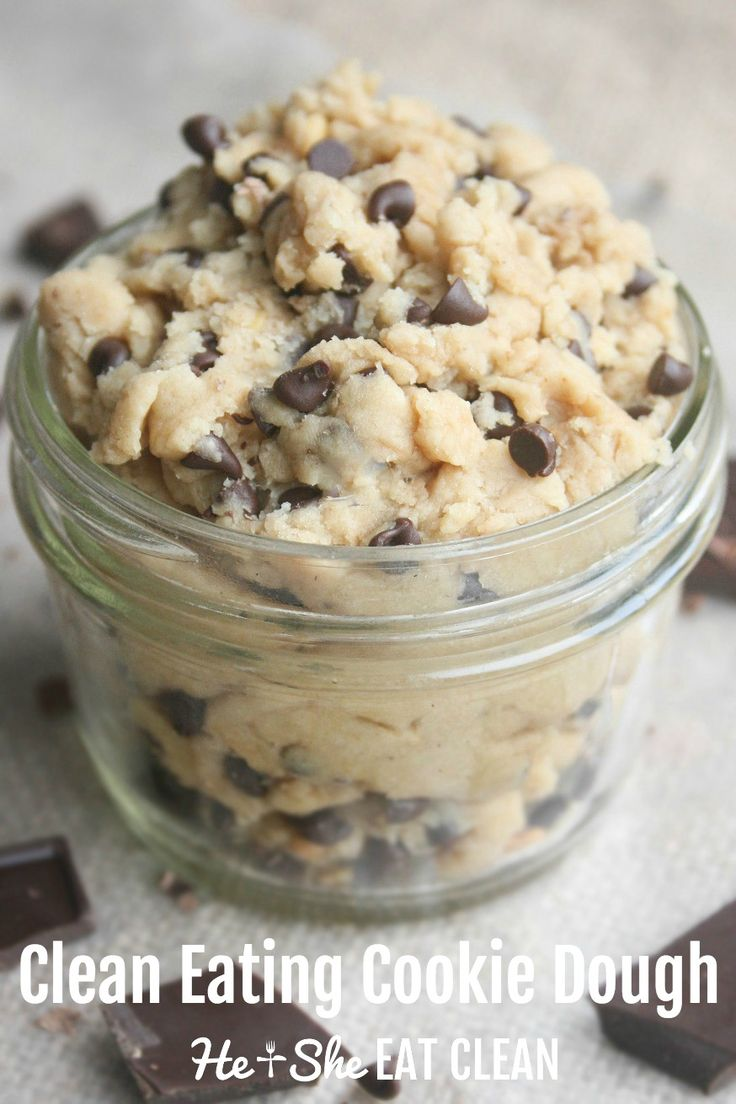 This is one of the most popular clean eating recipes! Go to the kitchen and make it ASAP! Clean Eating Cookie Dough | He and She Eat Clean
