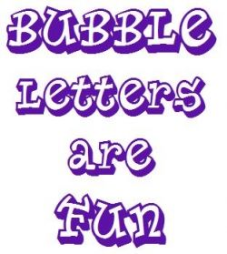 How to Draw 3D Bubble Letters