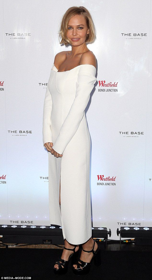 Lara Bingle in Christopher Esber dress - Westfield Style Ambassador. In Sydney. (15 October 2015)