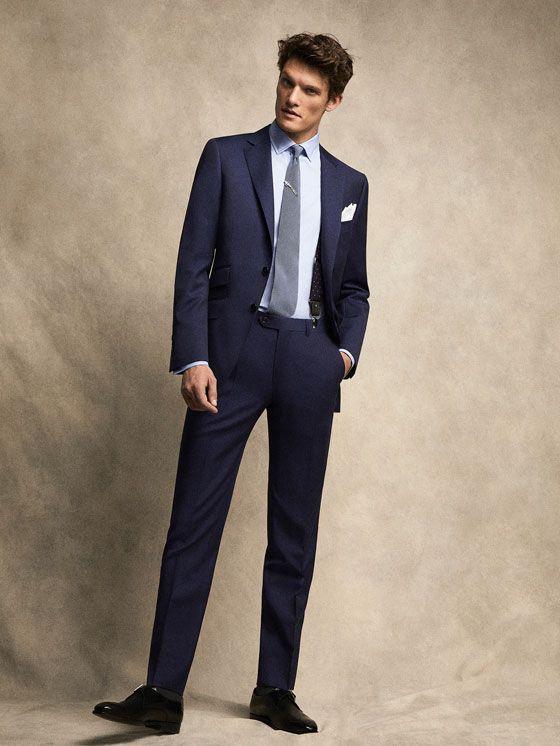 PANTALÓN AZUL ELÉCTRICO PERSONAL TAILORING de HOMBRE - Personal Tailoring de Massimo Dutti de Primavera Verano 2017 por 79.95. ¡Elegancia natural!