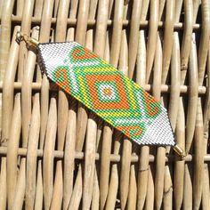 Bracelet cartagena en mostacilla tissu original de la colombie.