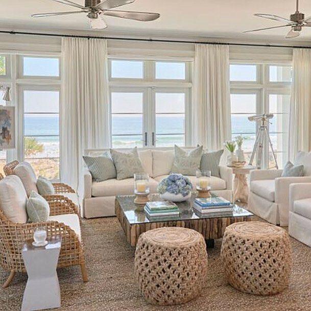 White Plus Blue Plus Water Plus Textures Phoebehowarddecorator Beach House Living Room Beach House Interior Coastal Living Room