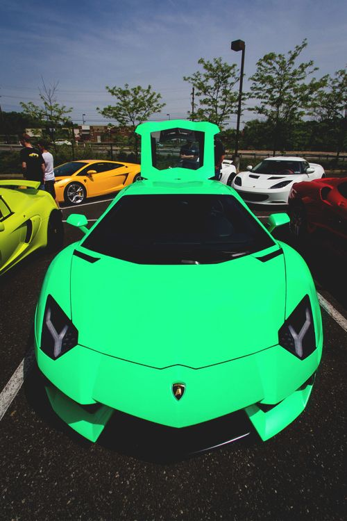 Aventador. Shoot me before I ever drive this color. But, obviously, awesome car