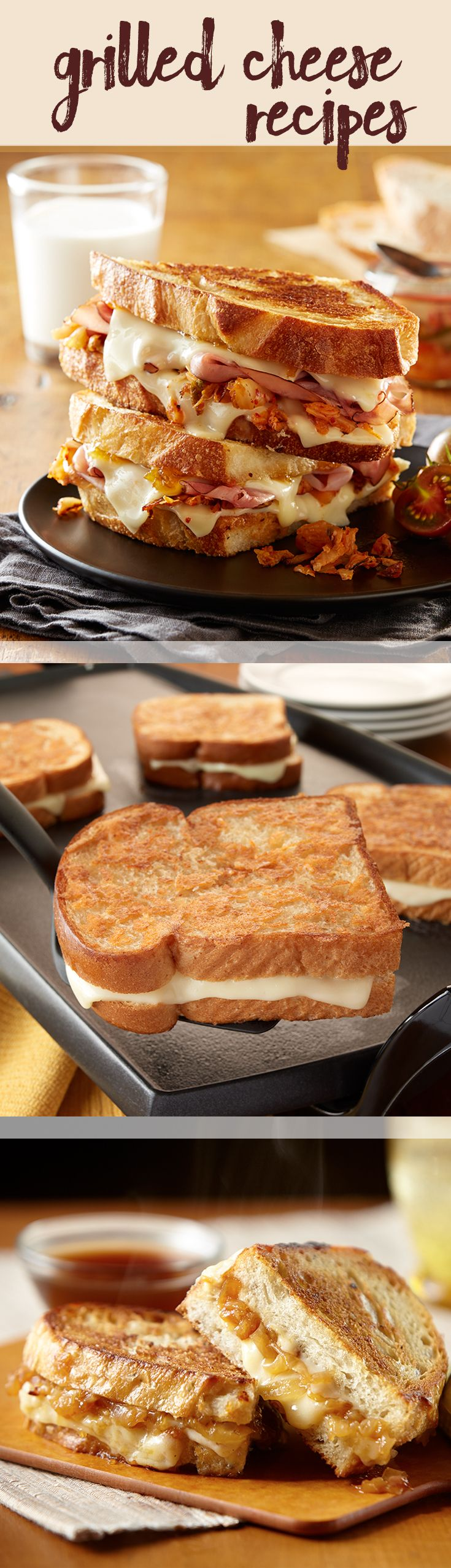 The best Grilled Cheese collection. From classic to creative there's a sandwich for everyone!