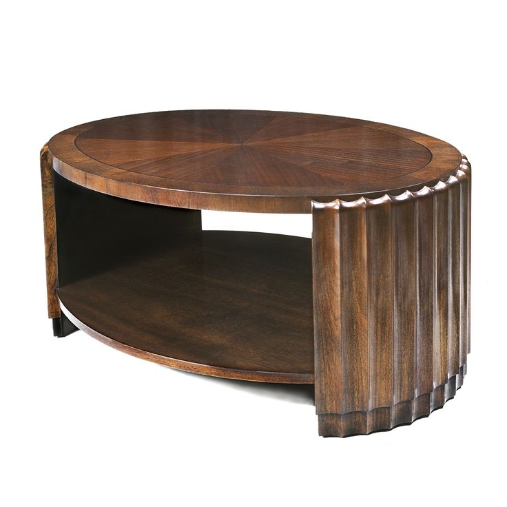 Buy Fluted Coffee Table by Poet Design - Made-to-Order designer Furniture from Dering Hall's collection of Transitional Coffee & Cocktail Tables.