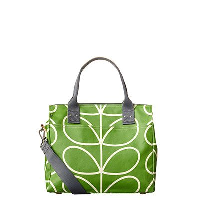 Orla Kiely | UK | bags | SALE - Bags | Giant Linear Stem Zip Messenger (15AELIN100) | apple