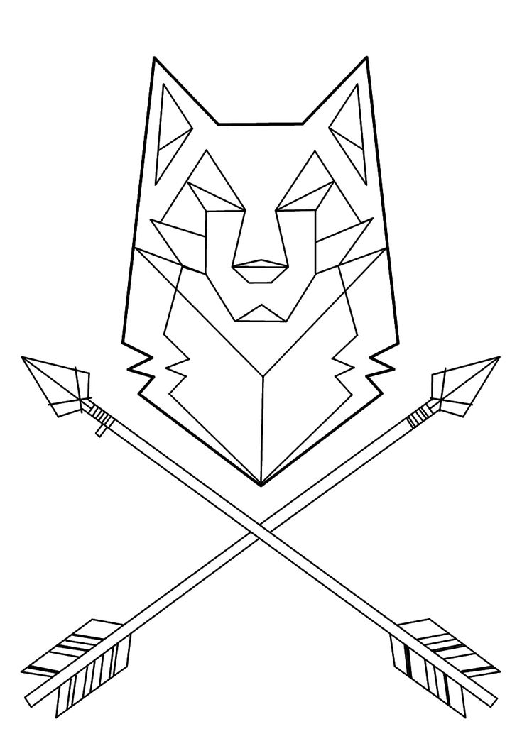 Line Drawing Animal Tattoos : Best geometric wolf ideas on pinterest