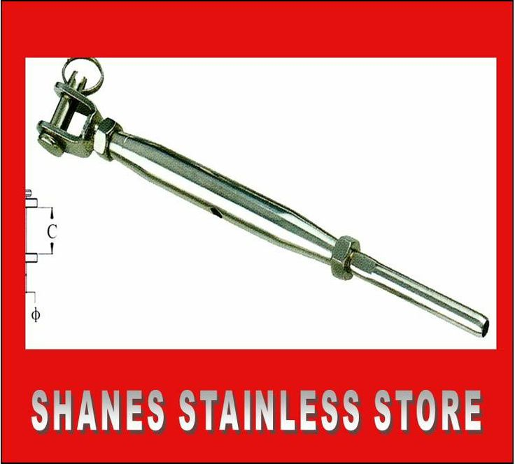 Stainless Steel Jaw Rigging Turnbuckle used for wire balustrading.  #Stainless #Steel #Turnbuckle