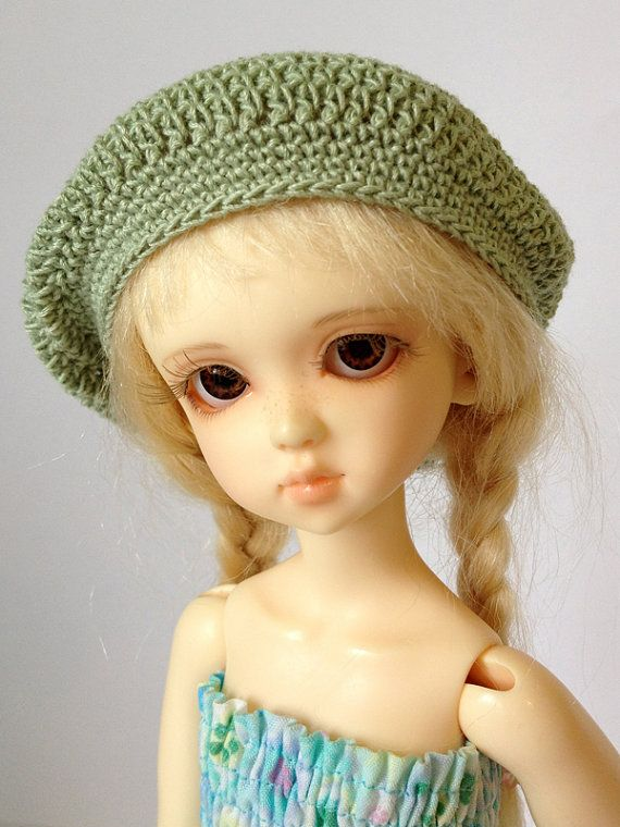 BJD Slouch Hat  for 6/7 head MSD YoSD  Sage by AdrianneInspired, $11.00