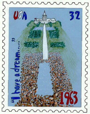 After doing the appropriate research, students can design a Postage Stamp for Black History Month  What a great idea!