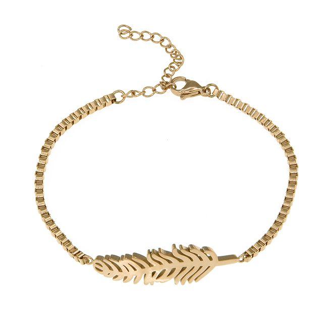 Ingnell Jewellery - Agnes bracelet gold. Stainless steel. www.ingnelljewellery.com