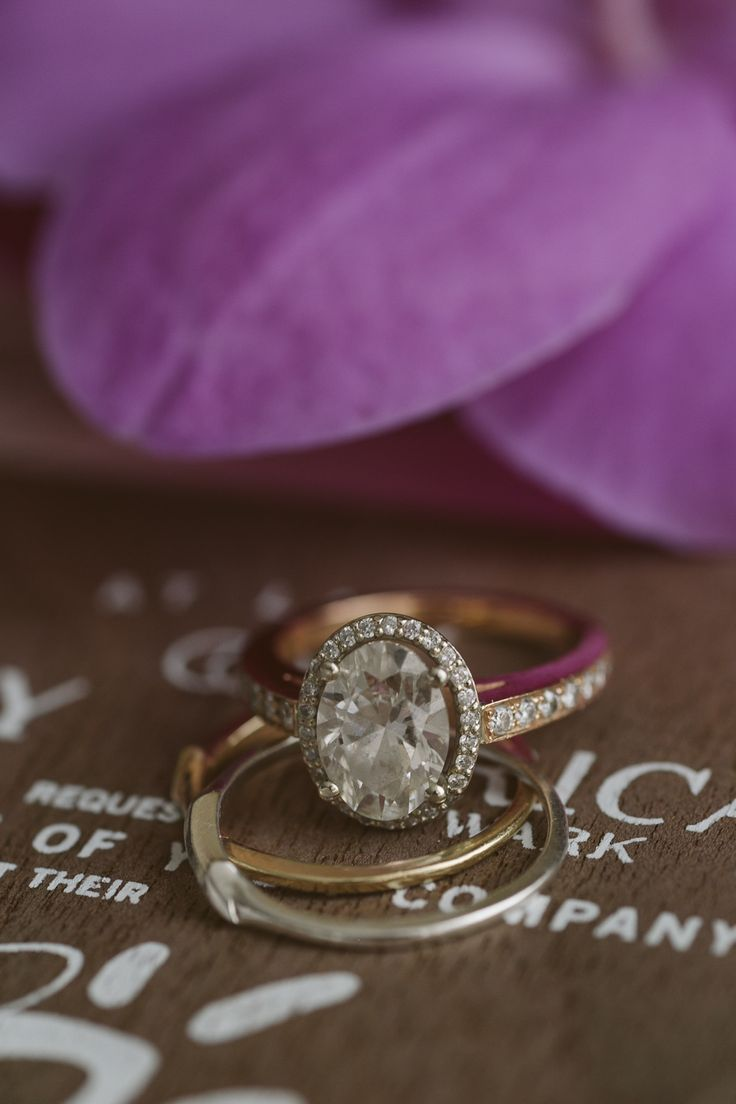 Oval rose gold diamond engagement ring; Erica Wark wedding; PHOTOGRAPHY Joel + Justyna Bedford; Toronto wedding photographer;