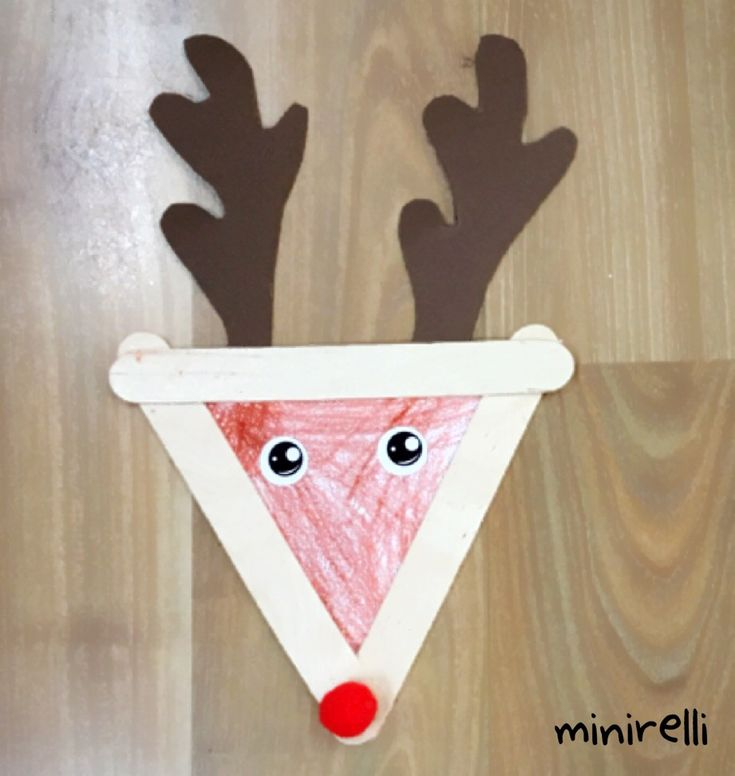 Carrying on our reindeer theme this week, we made these super cool triangular reindeers! You can even hang them on your tree! You may need: Three large craft sticks Brown A4 paper White A4 paper&nb…