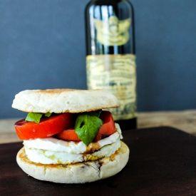 Caprese Breakfast Sandwich [Domestically Blissful] eat365.com.au