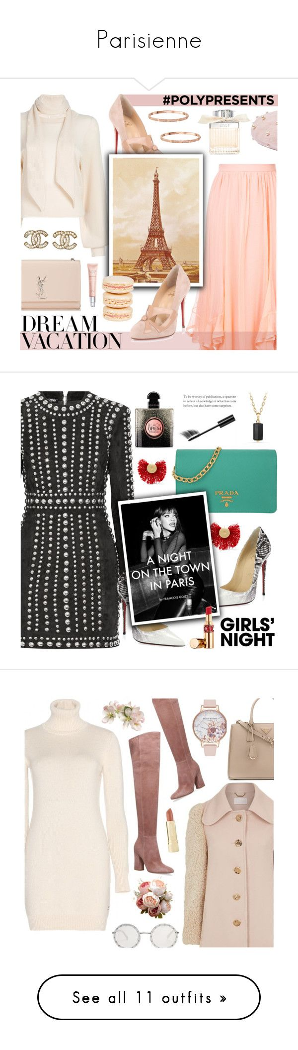 """Parisienne"" by freshprincesse ❤ liked on Polyvore featuring Chloé, Christian Louboutin, Yves Saint Laurent, Mikimoto, Topshop, Chanel, Christian Dior, Katerina Makriyianni, Prada and Balmain"
