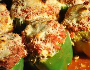 Big T's Big Green Egg Recipe Blog: STUFFED BELL PEPPERS