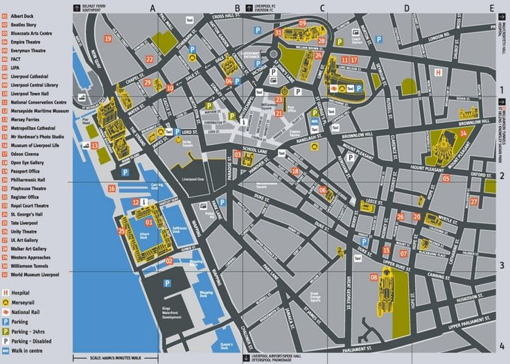 Liverpool tourist attractions map