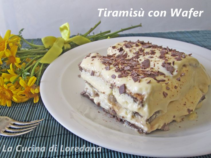 tiramisù con wafer