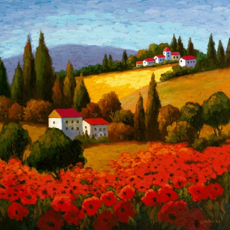 Tuscan Poppies  by Parrocel