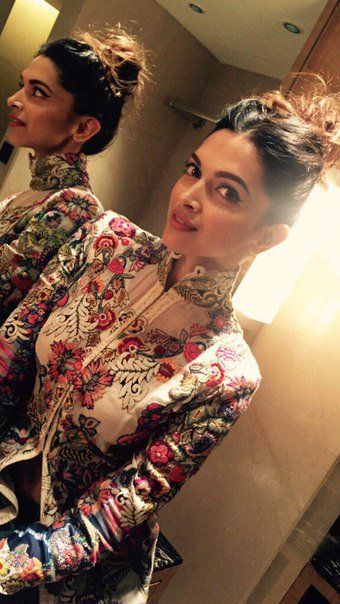 Deepika Padukone during Tamasha promotions