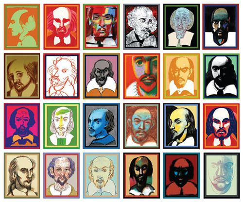 Faces of Shakespeare: Glaser Shakespeare, Happy Birthday, William Shakespeare, Contemporary Artists, The Faces, 36 Faces, Williams Shakespeare, Graphics Design, Milton Glaser