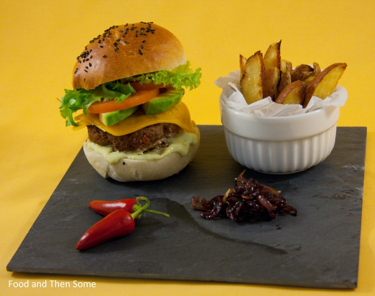 Food and Then Some: Mac Jagger Burger and Potato Wedges