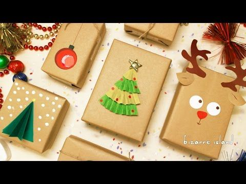 8 Last Minute Gift Wrapping Ideas | c for craft - YouTube