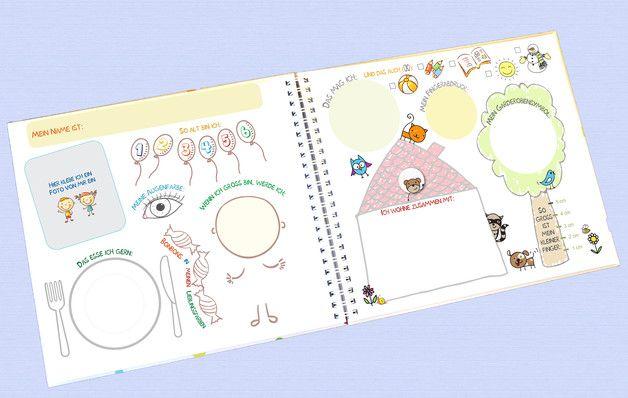 Bücher - Originelles Freundebuch für den Kindergarten - ein Designerstück von orsolibri bei DaWanda