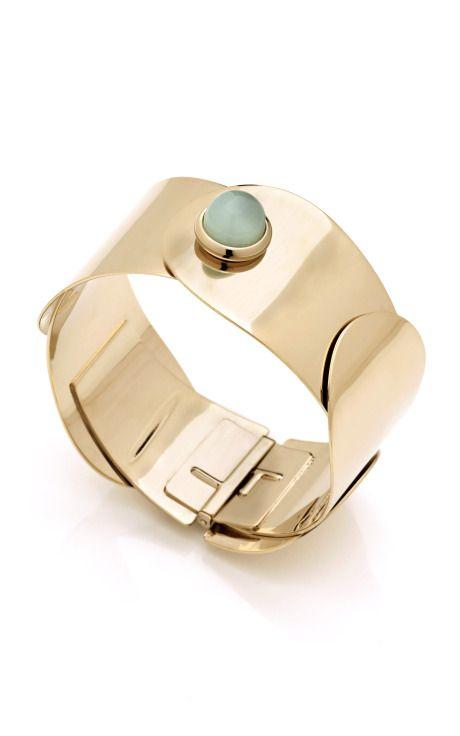 warrior glass cabochon cuff bracelet