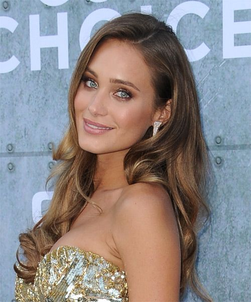 Hannah Davis Long Wavy Hairstyle - Medium Brunette (Chestnut) - side view 1
