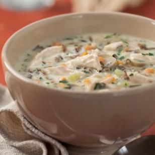 Chicken and Wild Rice Soup--my favorite thing at Panera Bread--but the healthy version! YUM!
