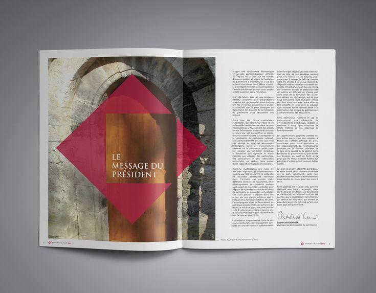 Rapport d'activité 2012 Fondation du Patrimoine ©Agence MBCOM