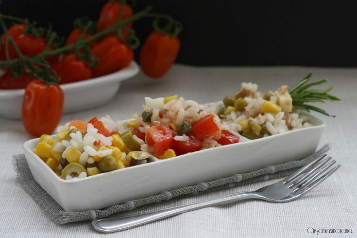 Tris di insalate di riso, sfiziose e stuzzicanti