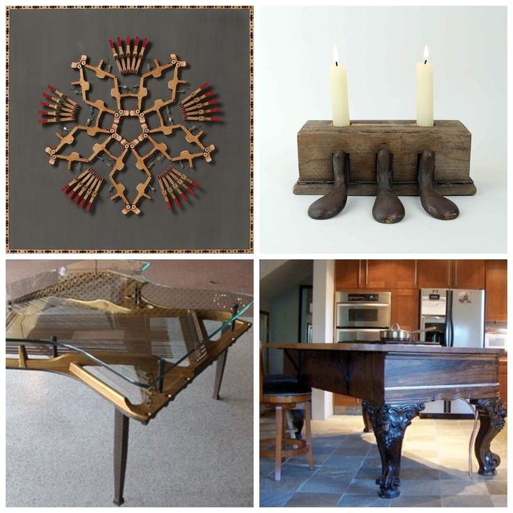 recycled piano parts Piano decor, Piano crafts, Rustic