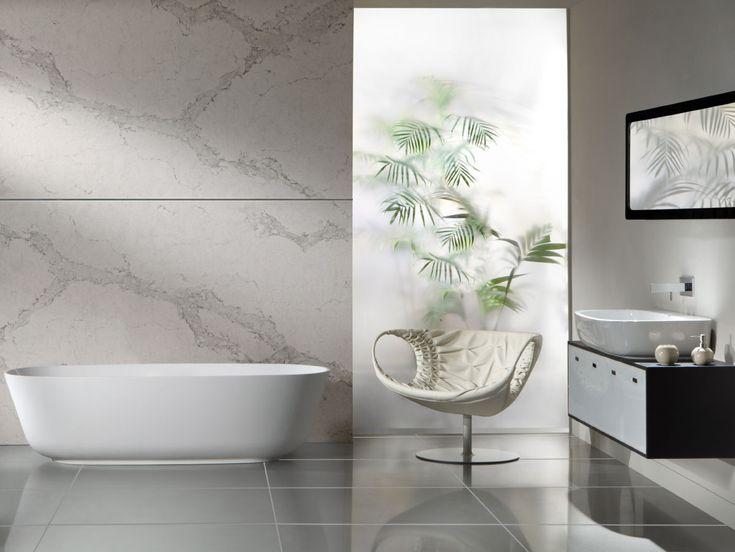 Caesarstone Calacatta Nuvo Looks Great In Bathrooms Too Caesarstone Colors Calacatta Nuvo