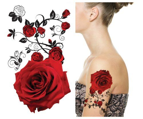 Supperb® Temporary Tattoos - Red Roses Supperb http://www.amazon.com/dp/B00GC0Q9LG/ref=cm_sw_r_pi_dp_Vdnbvb1S3WZAS