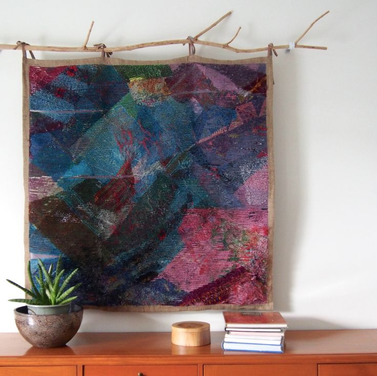 AURORA, A Work of Art, A Faux Chenille Tapestry! by threadapeutic on Etsy