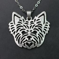 Yorkshire Terrier Charm with Chain  SALE PRICE$15.95