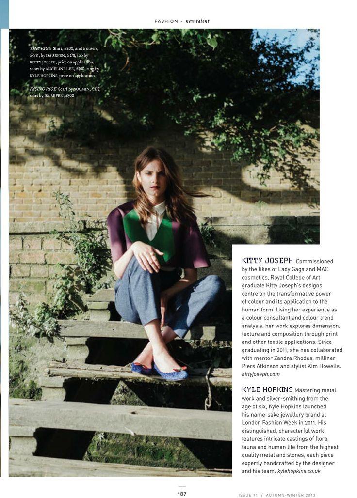 zoe flats blue ladybug dotty bow signature style design magazine london photoshoot editorial model