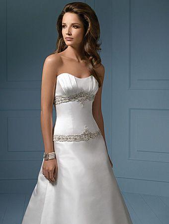 Sleeveless Sweetheart Chapel Train Satin Wedding Dresses