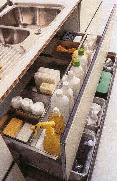 Taki zestaw zrobisz z naszej szuflady frontowej pod zlew oraz szuflady z pojemnikami na odpady!  www.rejs.eu/oferta/Linia-Maximaniskie
