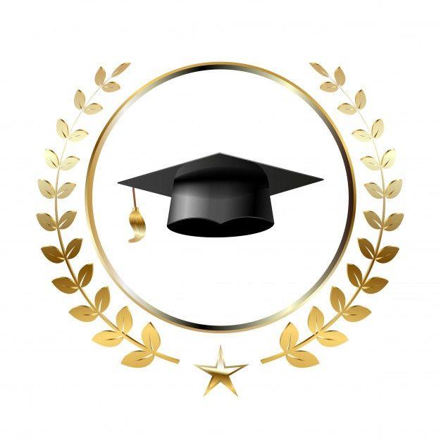 Elementos De Design De Modelo De Logotipo De Formatura In 2020 Graduation Logo Graduation Design Branding Design Logo