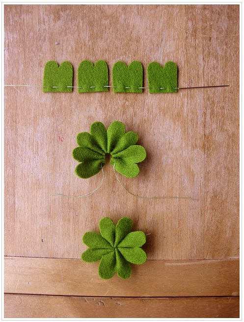 Klavertje Vier van Vilt - Felt Four Leaved Clover #DIY