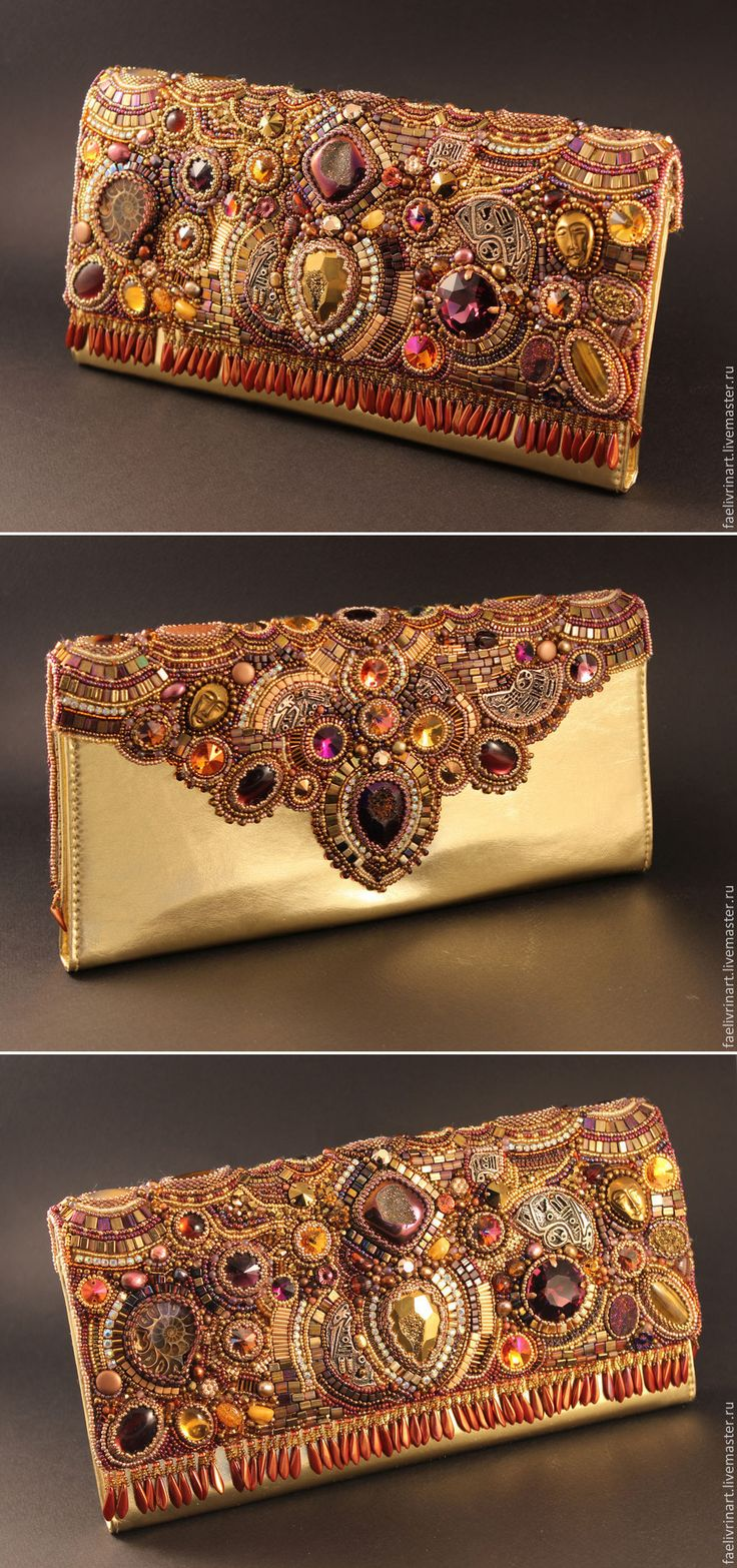 Gorgeous beaded clutch by Natalia Volodeva