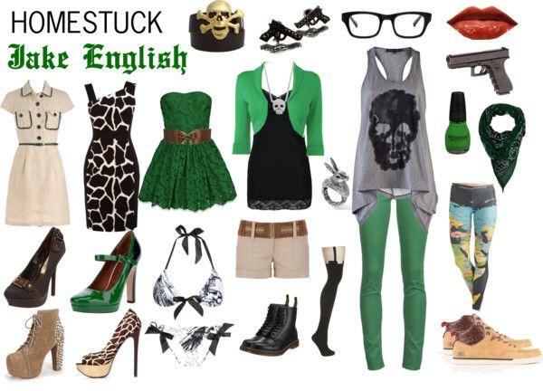 """Homestuck Fashion: Jake English"" by khainsaw on Polyvore"