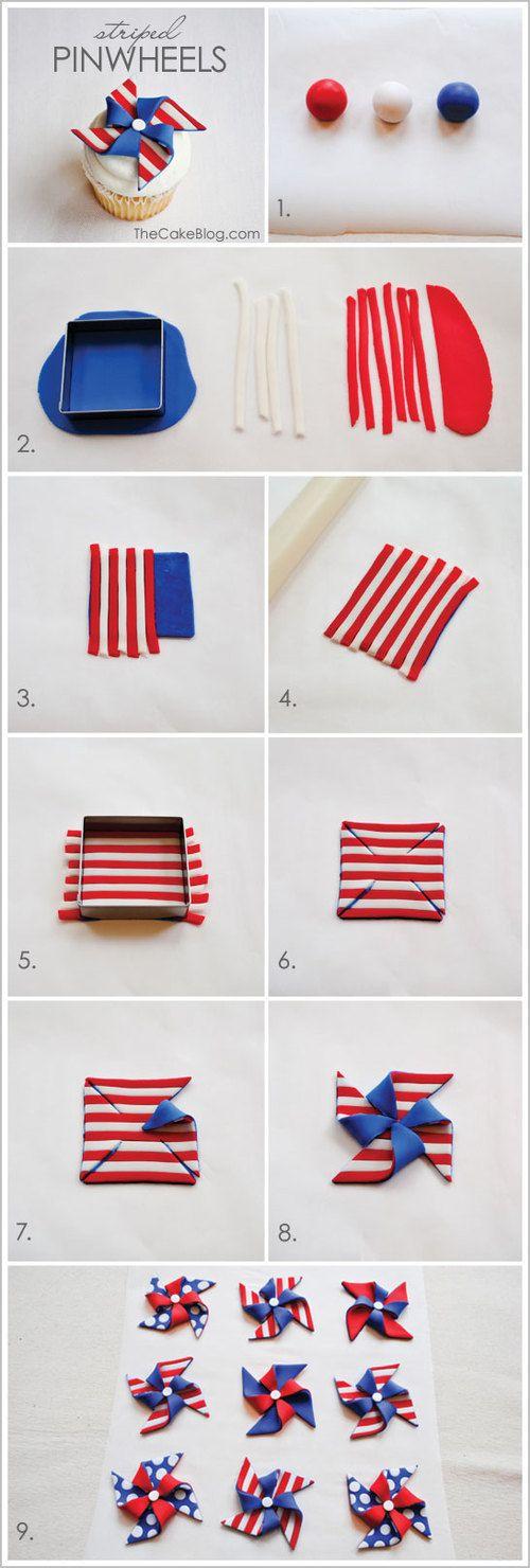 Amerikaanse vlag van marsepein