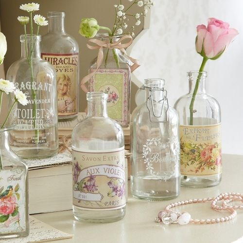 Pretty way to dress up bottles